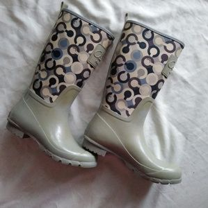 Coach raining boots. Size 7